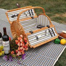 Новый ручной хранения организатор плетеная корзина для пикника на еда как новый год и рождественский подарок(China (Mainland))