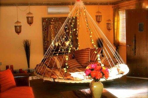 hanging papasan: Decor Ideas, Sweet, Hanging Beds, Dream House, Future, Decorating Ideas, Design, Bedroom Ideas