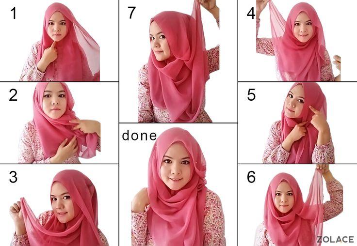 Cara Pakai #Selendang Gaya Ringkas & Cantik - #Zolace  Easy #Tutorial on wearing hijab