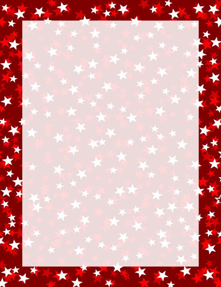 Red Three Tone Stars Border