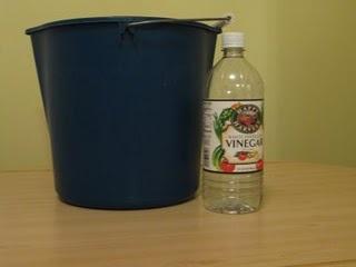 Limpador de chão - água quente + vinagre branco