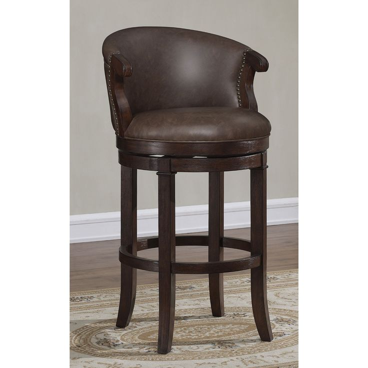 Greyson Living Murphy Brown Bonded Leather Swivel Counter Stool (Murphy Swivel Counter Stool)