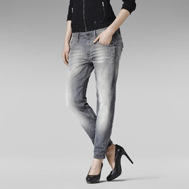 L'Ocean Kate est un jean à 5 poches resserré à la cheville avec des zips féminins sur les poches latérales et une poche ticket oblique.En denim gris tiss...