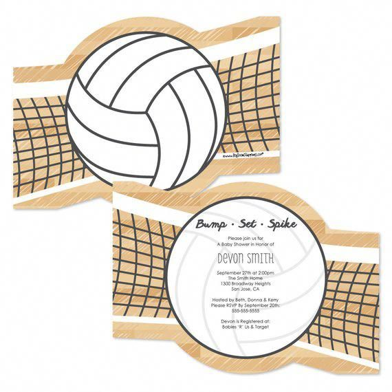 Bump Set Spike Volleyballinvitations Personalized Party Invites Set Of 12 Volleyball Birthday Party Personalized Party Birthday Party Themes