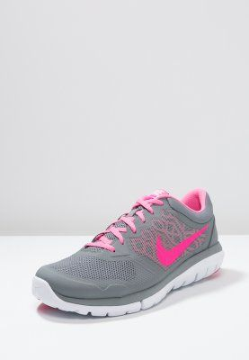 Nike Performance FLEX 2015 RUN - Demping hardloopschoenen - cool grey/pink  pow/white - Zalando.