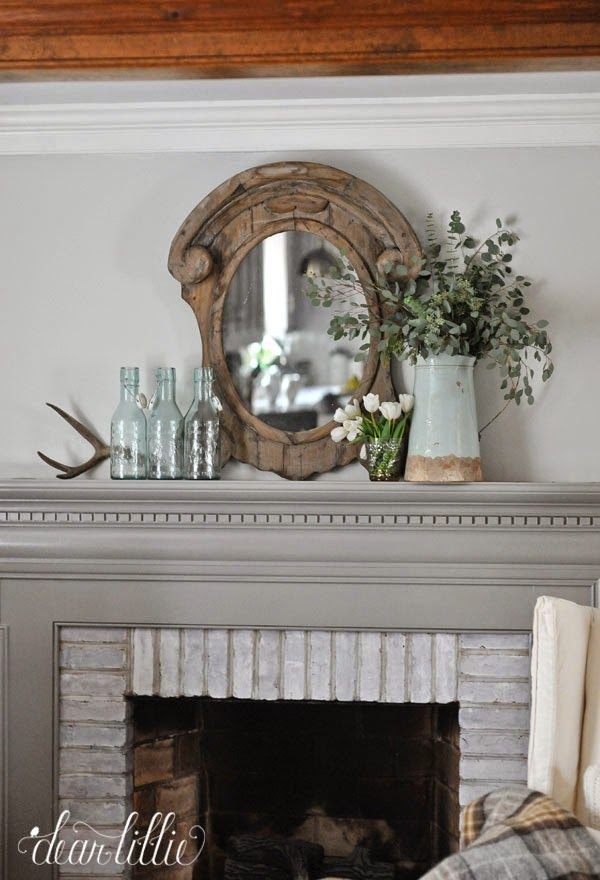 The Fireplace -- Paint Color --Winter Gates By Benjamin Moore