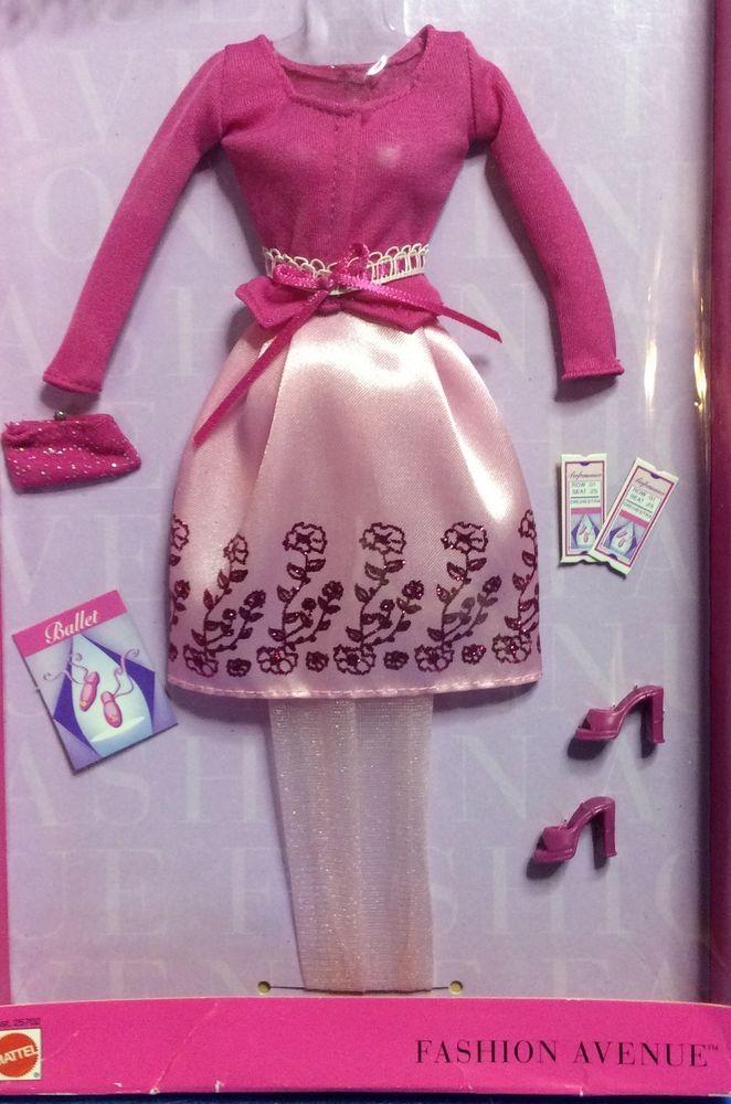 2001 BARBIE Fashion Avenue Charm BALLET BOUQUET 25702 NRFP   Mattel Dress Shoes Purse Program Tickets