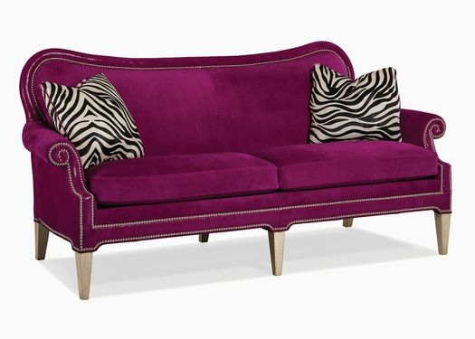... Classic French Salon Inspired U201cColetteu201d Sofa Proves That Pink Is No  Longer For Reserved For Little Girlsu0027 Rooms Anymore. Bright Fuchsia Suede  Leather ... Nice Design