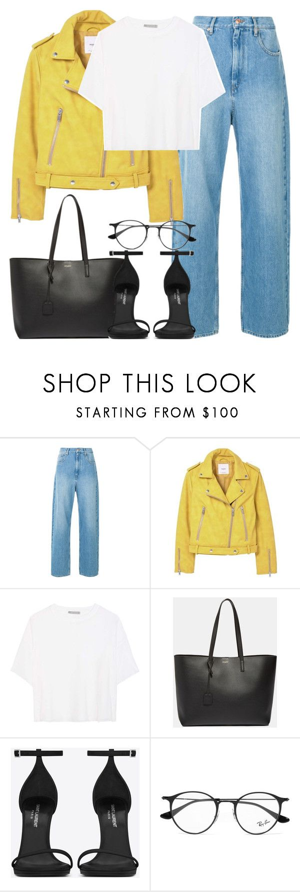 """Untitled #3086"" by elenaday on Polyvore featuring MANGO, Vince, Yves Saint Laurent and Ray-Ban"