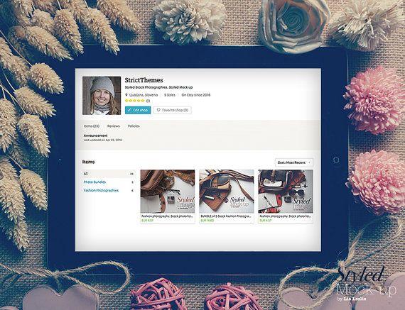 Styled iPad Mock up. Tablet Mockup. Website on от StrictThemes