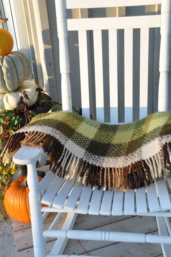 Large chunky Wool Blanket/throw made in Holland.  by Windyhillbarn