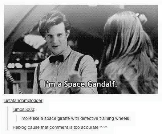 Doctor Who Space Gandalf more like a giraffe