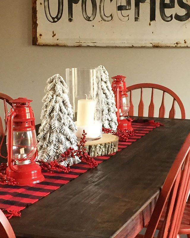 Best Cabin Christmas Decor Ideas On Pinterest Cabin - Christmas tartan table decoration