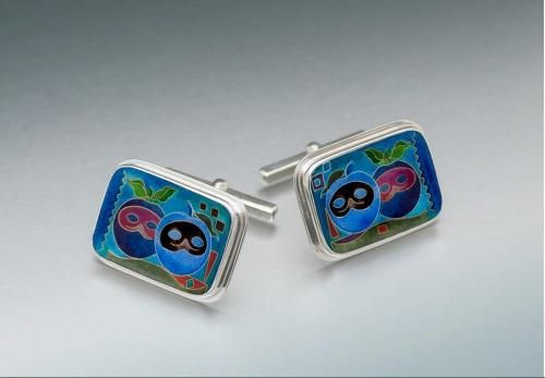 Wow, unique costume jewelry CUFFLINKS  Handcrafted in silver. Author Khatuna Roinishvili