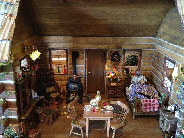 338 Best Miniature Log Cabins Images On Pinterest