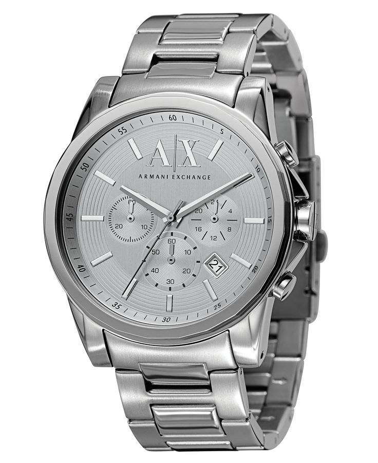 A|X Armani Exchange Watch, Men's Chronograph Stainless Steel Bracelet 45mm AX2058 - Watches - Jewelry & Watches - Macy's