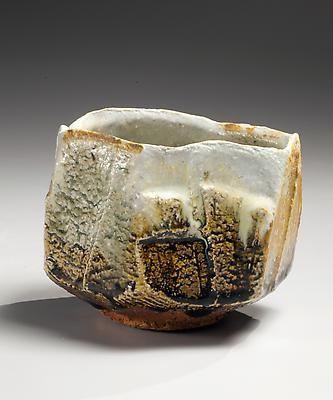 Nishihata Tadashi Faceted, ash-glazed stoneware teabowl with uneven rim, 2013 Ash-glazed stoneware 3 3/4 x 4 3/4 in. Inv# 8397 $3,500 Image