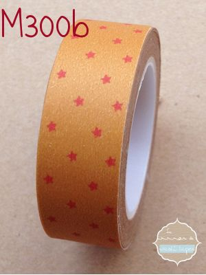 Washi Tape Naranja estrellitas