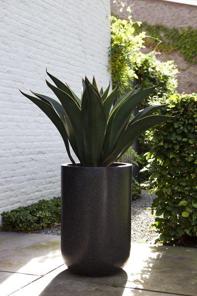 Donica ogrodowa ceramiczno akrylowa śr. 36X55 cm, Miloo Home - Wyposażenie wnętrz