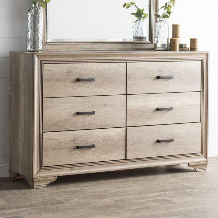 Payne 6 Drawer Double Dresser Double Dresser Wood Bedroom Decor Furniture