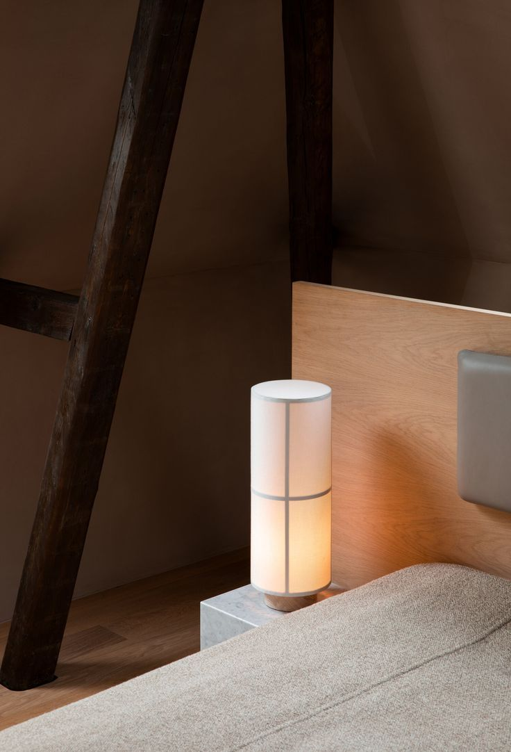 A Nordic Take On The Traditional Japanese Rice Paper Lantern Lamp Hashira April And May In 2020 Lamp Table Lamp Lantern Lamp