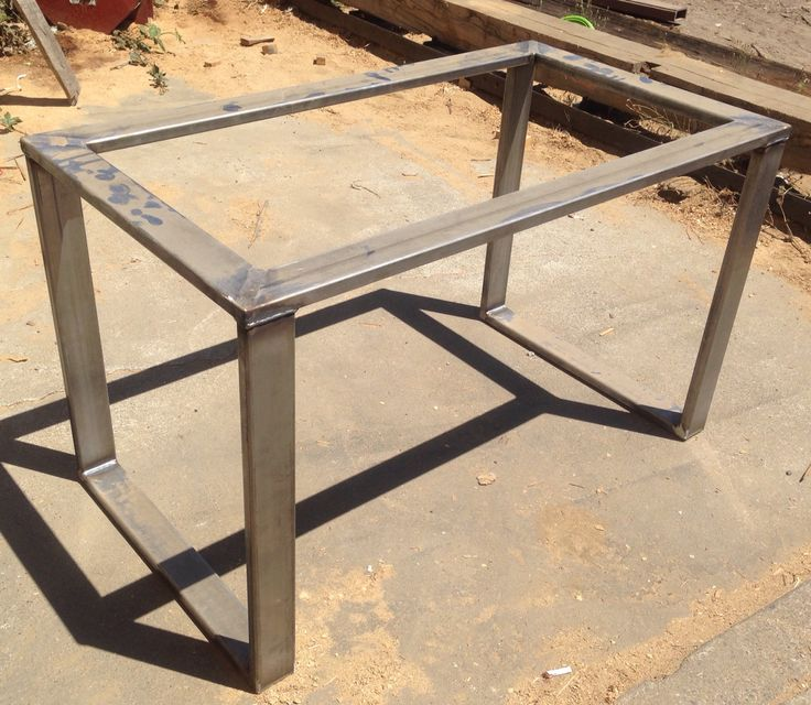 Metal table base hot rolled steel 3x1 tubing metal - Tables basses metal ...