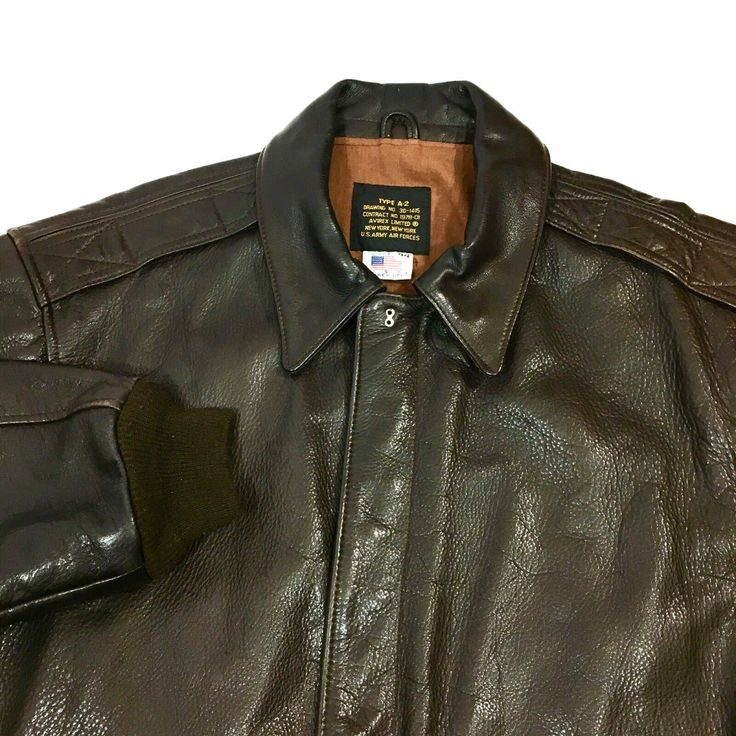 Avirex USAF GOAT Leather A2 US AIR FORCE Pilot Bomber