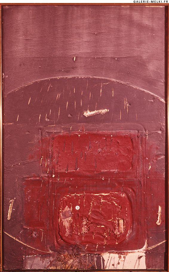 TAPIES, Antoni. Red Velvet. 1966. Oil on canvas