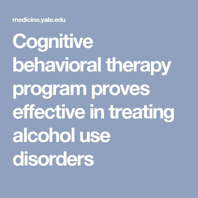 Cognitive behavioral therapy program proves effective in treating alcohol use disorders