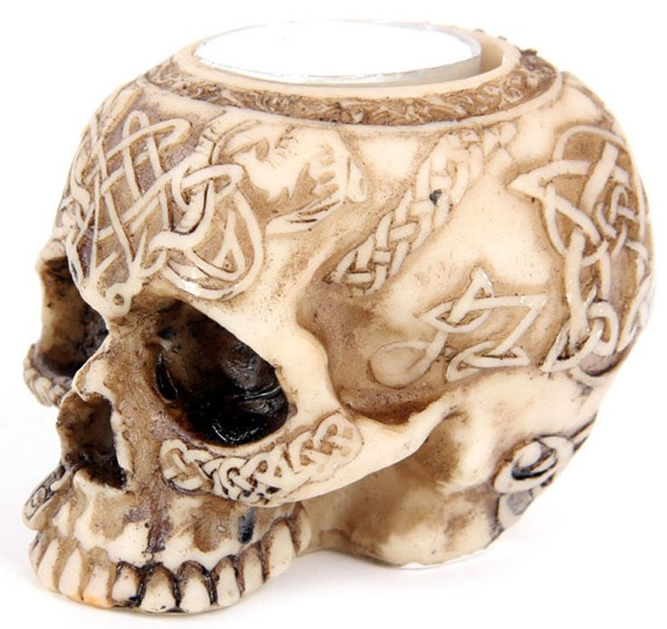Figura Portavelas Calavera  #tribal #skull #candle #vela #rock #metal #gotico #gothic #decoracion #decor #halloween #xtremonline