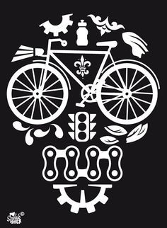 skull on a bicycle - I am liking this direction.....