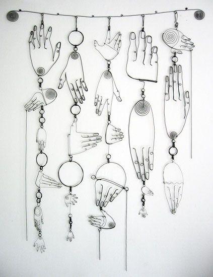 Diane Komater -wire sculptures