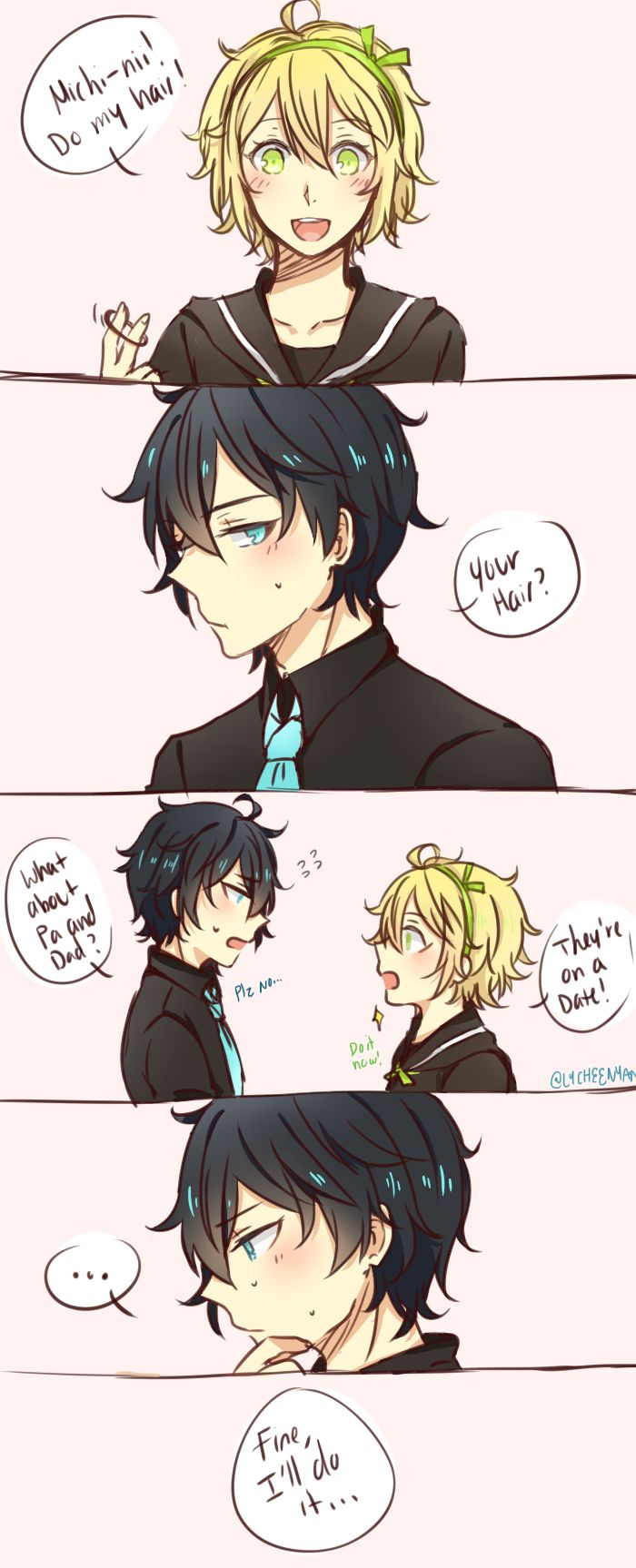 OMG THEY ARE THE SONS OF MIKA AND YUU SO CUTE!! But...how did they did them...?