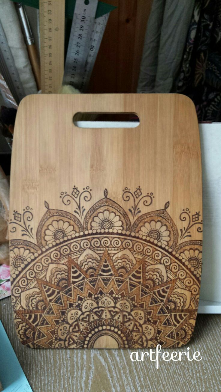 # # Pyrographie Artfeerie # Mandala # # Holz Holz #artfeerie #mandala #pyrograph…