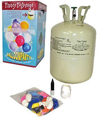Dekoration günstig kaufen | Unisex Helium Flasche mit 30 Luftballons | 08712364643541