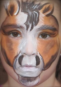 Horse face painting can make a unicorn now! @Kate Hallstrom