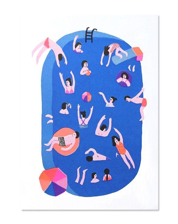 Illustration originale de Léa Maupetit. Affiche lumineuse et colorée (et surtout super cool), imprimée à la main en France. Chaque tirage est...