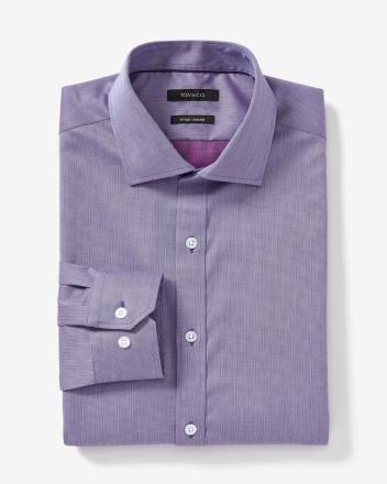 Non iron two tone dress shirt