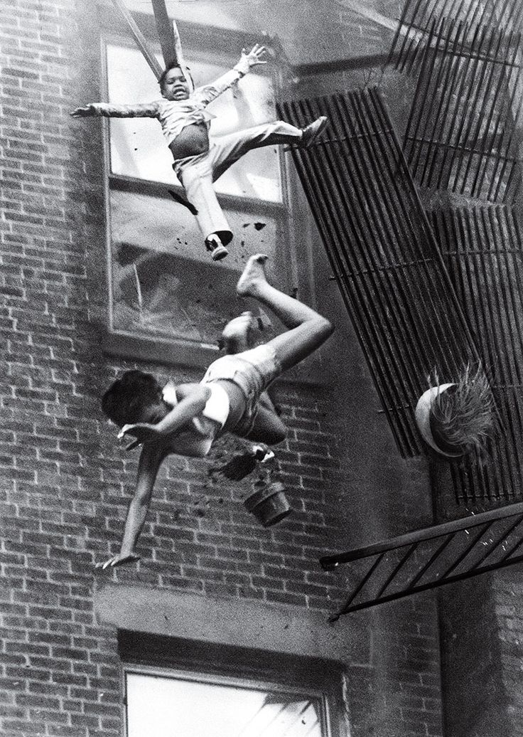 Fire Escape Collapse by Stanley Forman