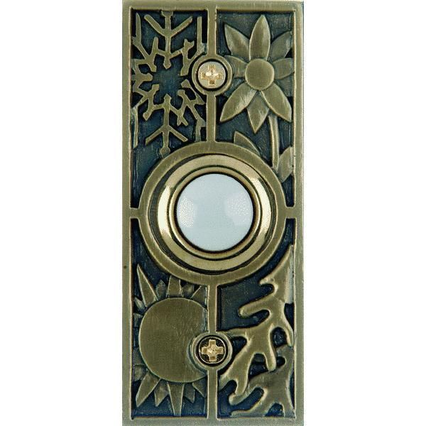 Carlon Antique Brass Seasons Push-Button Door Bell by Thomas