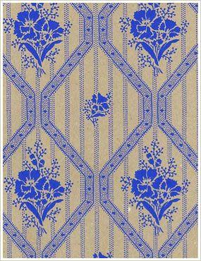 Lim & Handtryck Blåklint kvist-blå