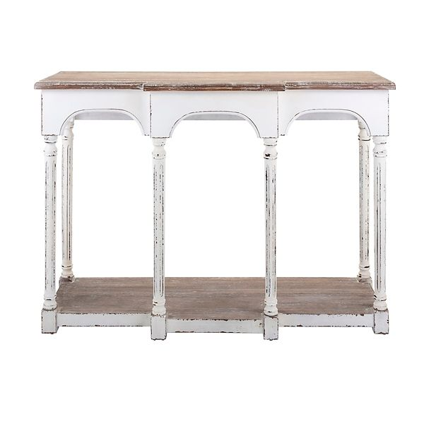 Distressed White Poppy Console Table Kirklands Wood Console