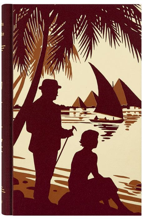 Death on the Nile by Agatha Christie.  Folio edition. Illustration by Andrew Davidson.