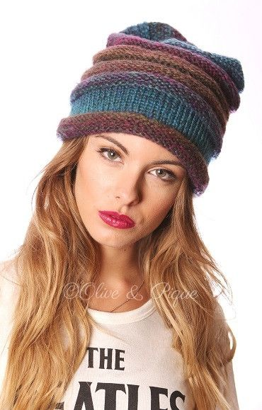 Rainbow beanie from Gypsy Outfitters -  Boho Luxe Boutique