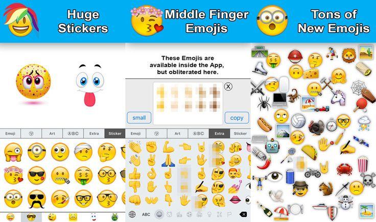 """Neue Emoji Tastaturen fürs iPhone: Millionenbusiness dank Mittelfinger? - https://apfeleimer.de/2015/10/neue-emoji-tastaturen-fuers-iphone-millionenbusiness-dank-mittelfinger - Neue Emoji Tastatur – Extra Emojis für das iPhone: die kleinen Emoticons und Smileys sind mittlerweile fester Bestandteil unserer Kommunikation. Mit iOS 9.1 wird Apple zahlreiche neue Emojis (das """"Mittelfinger"""" Emoji ist auch dabei) nativ für die iPhone und iPad Plattform u..."""