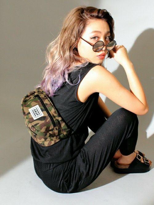 動きやすいアクティブコーデ♡ウエストポーチのコーデ☆スタイル・ファッションの参考に♪