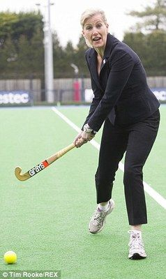 Sophie, Countess of Wessex, as Patron of England Hockey, paid a visit to the England's women hockey team in Buckinghamshire. 3/11/2014
