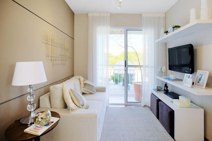 Sala de Estar e Jantar apartamento econômico
