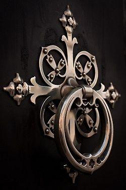 Very pretty decorative door hardware