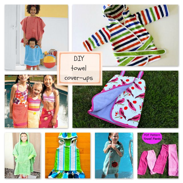 Summertime sewing inspiration! Eight towel cover-ups to sew for kids